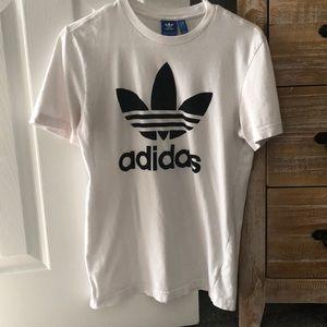 White Adidas short sleeve shirt